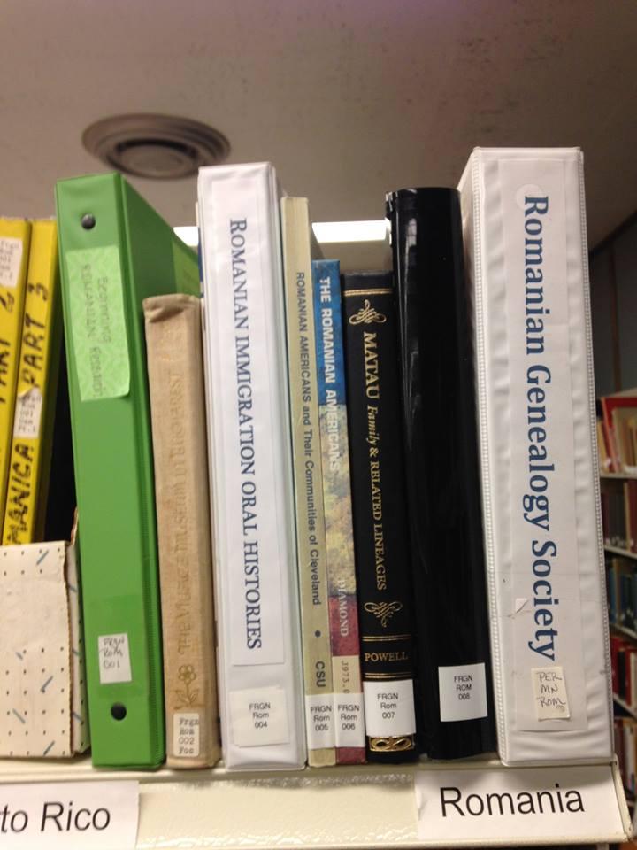 Library Shelf - Romanian Genealogy Society