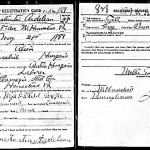 WWI Draft Reg Constantin Ardelean Homestead PA of seditious utterance fame