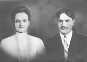 Portrait of Sharon Schulz's ancestors, Gheorghe Staruiala and Efrosina Iliesi, Sharon Schulz's ancestors from Bukovina who came to Canada